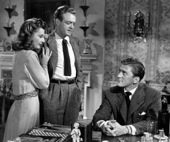 Barbara Stanwyck, Van Heflin and Kirk Douglas
