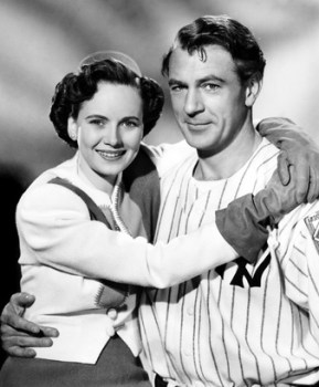Theresa Wright and Gary Cooper