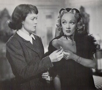 Jane Wyman and Marlene Dietrich