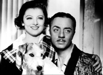 Myrna Loy and William Powell and Asta